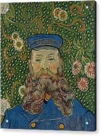 Portrait De Joseph Roulin Acrylic Print by Vincent van Gogh