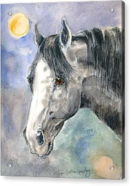 portrait Gray II Acrylic Print by Mary Armstrong