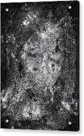 Portrait In Black Acrylic Print by Randy Steele