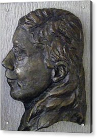 Portrait In Bronze Acrylic Print by Willoughby Senior