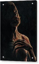 Portrait In Contemplation Acrylic Print by Richard Mountford