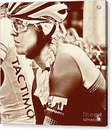 Portrait In Cycling  Acrylic Print by Steven Digman