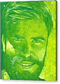 Portrait In Green Acrylic Print