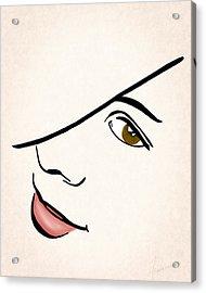 Portrait In Line Acrylic Print by Francesa Miller