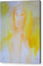 Portrait In Yellow Acrylic Print