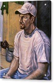 Portrait Mark Acrylic Print by John Clum
