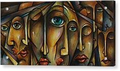 Portrait Acrylic Print by Michael Lang