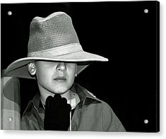 Portrait Of A Boy With A Hat Acrylic Print by Alex Galkin
