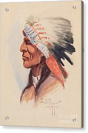 Portrait Of A Chief Acrylic Print by Celestial Images