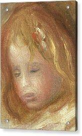 Portrait Of A Child Acrylic Print by Pierre Auguste Renoir