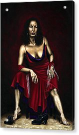 Portrait Of A Dancer Acrylic Print by Richard Young