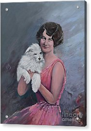 Maggie And Caruso -portrait Of A Flapper Girl Acrylic Print