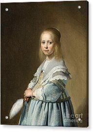 Portrait Of A Girl Dressed In Blue By J. Cornelisz Acrylic Print
