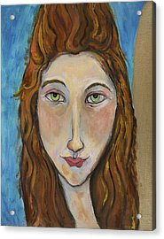 Portrait Of A Girl Acrylic Print