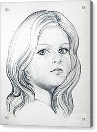 Portrait Of A Girl Acrylic Print by Stoyanka Ivanova