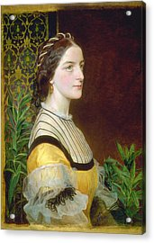 Portrait Of A Lady Acrylic Print by Frederick Sandys