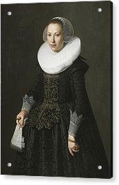 Portrait Of A Lady Acrylic Print by Nicolaes Eliasz