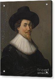 Portrait Of A Man In Black Acrylic Print