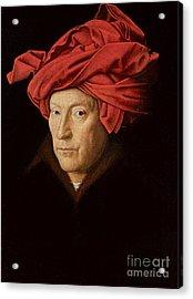 Portrait Of A Man Acrylic Print by Jan Van Eyck
