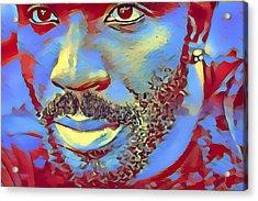 Portrait Of A Man Of Color Acrylic Print