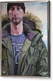 Portrait Of A Mountain Walker. Acrylic Print by Harry Robertson