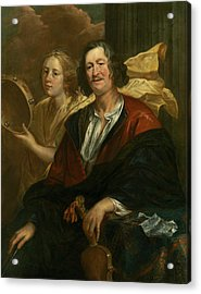 Portrait Of A Musician With His Muse Acrylic Print by Jacob Jordaens