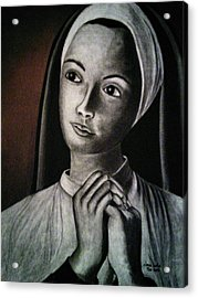 Portrait Of A Nun Acrylic Print