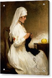 Portrait Of A Nurse From The Red Cross Acrylic Print