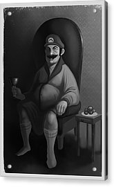 Acrylic Print featuring the digital art Portrait Of A Plumber by Michael Myers