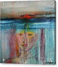 Acrylic Print featuring the painting Portrait Of A Refugee by Kim Nelson