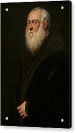 Portrait Of A White-bearded Man  Acrylic Print by Tintoretto