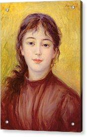 Portrait Of A Woman Acrylic Print by Pierre Auguste Renoir