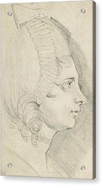 Portrait Of A Young Lady Drawn In Left Profile Acrylic Print
