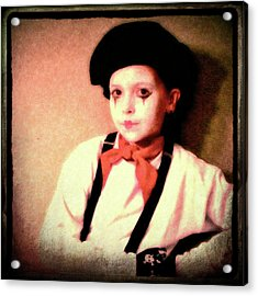 Portrait Of A Young Mime Acrylic Print