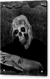 Portrait Of A Zombie Acrylic Print