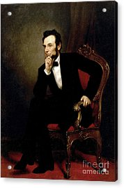 Portrait Of Abraham Lincoln, 1869  Acrylic Print by George Peter Alexander Healy