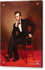Portrait Of Abraham Lincoln Acrylic Print