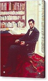 Portrait Of Abraham Lincoln Acrylic Print
