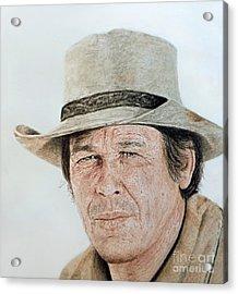 Portrait Of Actor Charles Bronson Acrylic Print