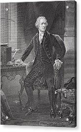 Portrait Of Alexander Hamilton Acrylic Print
