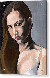 Portrait Of Amanda Acrylic Print