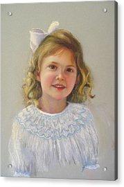 Portrait Of Amy Acrylic Print by Melanie Miller Longshore