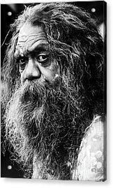 Portrait Of An Australian Aborigine Acrylic Print by Sheila Smart Fine Art Photography
