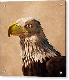 Acrylic Print featuring the digital art Portrait Of An Eagle by Daniel Eskridge