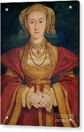 Portrait Of Anne Of Cleves  Acrylic Print by Hans Holbein