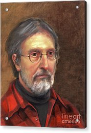 Portrait Of Barry Acrylic Print by Terri  Meyer