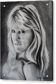 Portrait Of  Carla Acrylic Print by Carla Carson