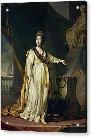 Portrait Of Catherine II The Legislatress In The Temple Of The Goddess Of Justice Acrylic Print