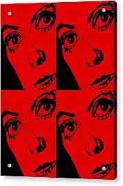 Portrait Of Catherine Pop Art Design Acrylic Print