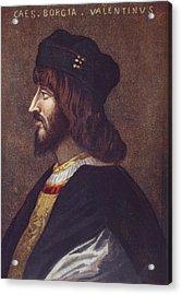 Portrait Of Cesare Borgia, 1475 Or 1476 Acrylic Print by Vintage Design Pics